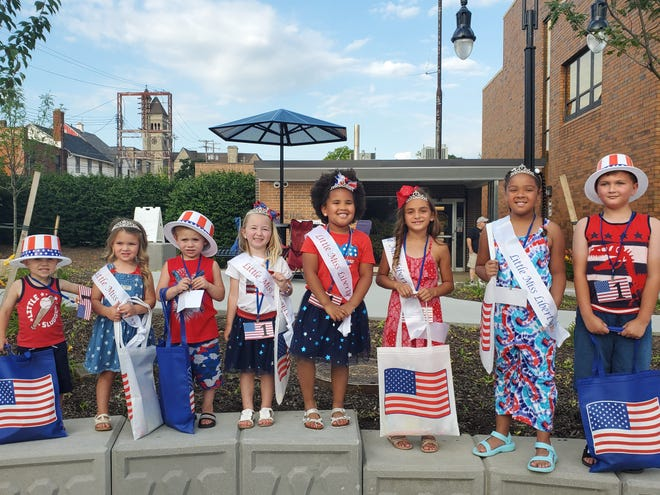 The winners of the title of Li'l Miss Liberty and Li'l Uncle Sam include, from left, Leo Davis, Hunter Jade Creter, Seely Rogers, Grace Perry, Nia Marie Hooten, Kennedy Knapp, Annie Miles and Coltin Creter. Leah Weibel is not pictured.