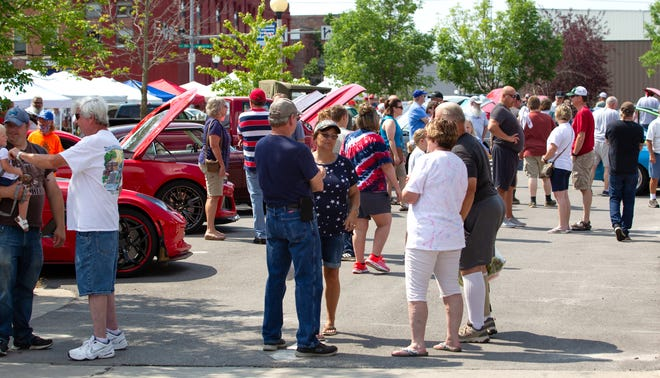 The All-American Classic Car Show from Kirksville's 2021 Red, White & Blue Festival.