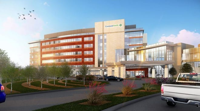 This view of Hope Tower shows what the building by Covenant Health will look like when it is finished.