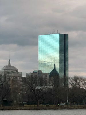 Here is the Hancock tower at dusk as seen from the Museum of Science. Staff photo/Wayne Braverman