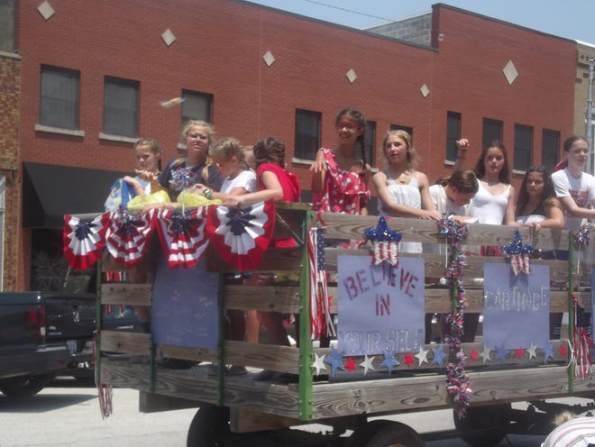 A float is seen during the Carthage Independence Day parade.
