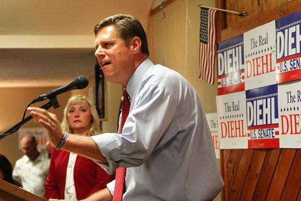 A 2018 file photo of Geoff Diehl, of Whitman, who is now running for governor.