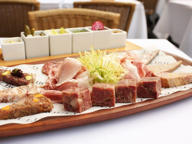 A charcuterie assortment at Cafe Boulud by executive chef Dieter Samijn.