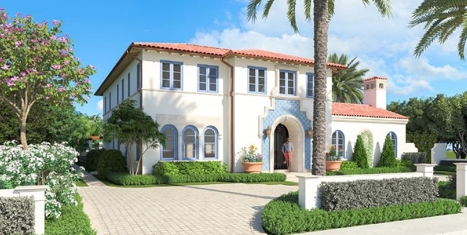 The Architectural Commission has approved this house designed by Thomas Kirchhoff & Associates for a property that sold in February for a recorded $7.55 million at 147 Dunbar Road.