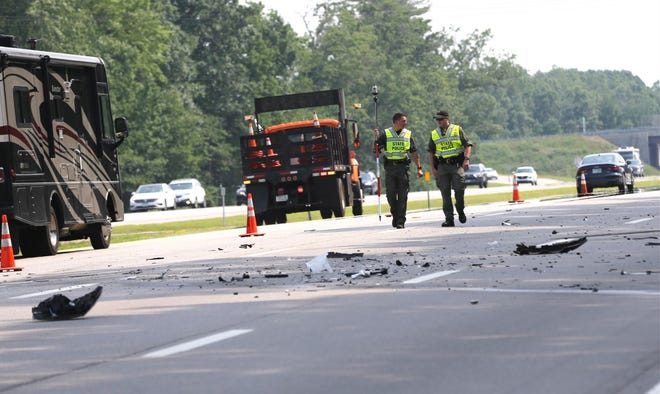 State police are investigating a fatal crash on Interstate 95 in Seabrook Tuesday, July 6, 2021.