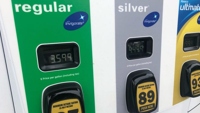 The average gasoline price in Florida topped $3 per gallon on Tuesday for the first time since October 2014. At one BP station on Okeechobee Boulevard in West Palm Beach, the price for a gallon of regular gasoline neared $3.60.