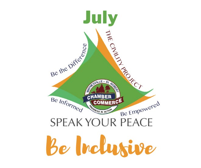 """Speak Your Peace features """"Be Inclusive"""" in July."""