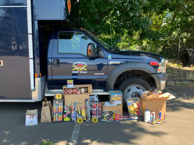 More than 125 pounds of fireworks were turned in at the Springfield Fireworks Amnesty Day on Saturday.