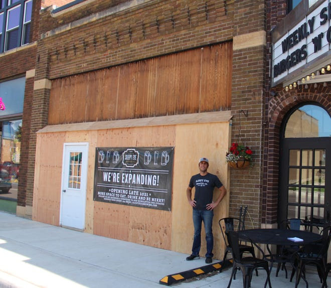 Take a drive down Main Street and see the Sleepy Eye Brewing Company expansion. Pictured is Manager Dave Forster.