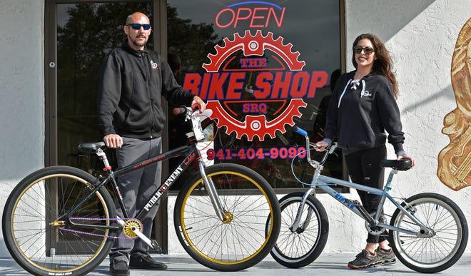Eddy Cass and Lauren Clark co-own the new Bike Shop SRQ.