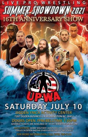United Professional Wrestling Association presents Summer Showdown 2021 on Saturday, July 10 in Wilmington.