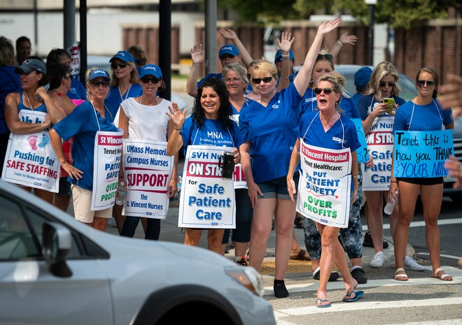 Nurses at St. Vincent Hospital rejected the hospital's latest contract offer.