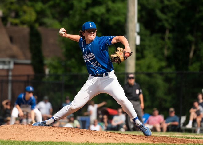 Evan McCarthy, shown pitching for Leominster High in the Division 1 state final last week, hurled a one-hitter Sunday for Leominster Legion.