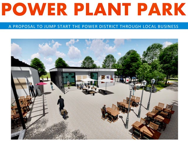 An illustration from a Power Point presentation the Larson brothers, owners of the 4th Avenue Food Park, have sent to Gainesville city commissioners.