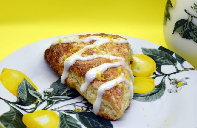 Easy Glazed Lemon Scone