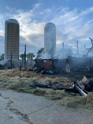 A barn that was more than 100 years old burned Friday on Friendly Ridge Road in the Tippecanoe area.
