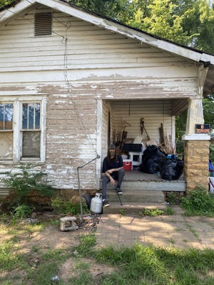 Jim Phillips, 45, has lived in his home since 2000. The home was condemned and he was ordered to leave, but volunteers recently stepped up to help out and a judge granted an additional 30 days to fix up the home.