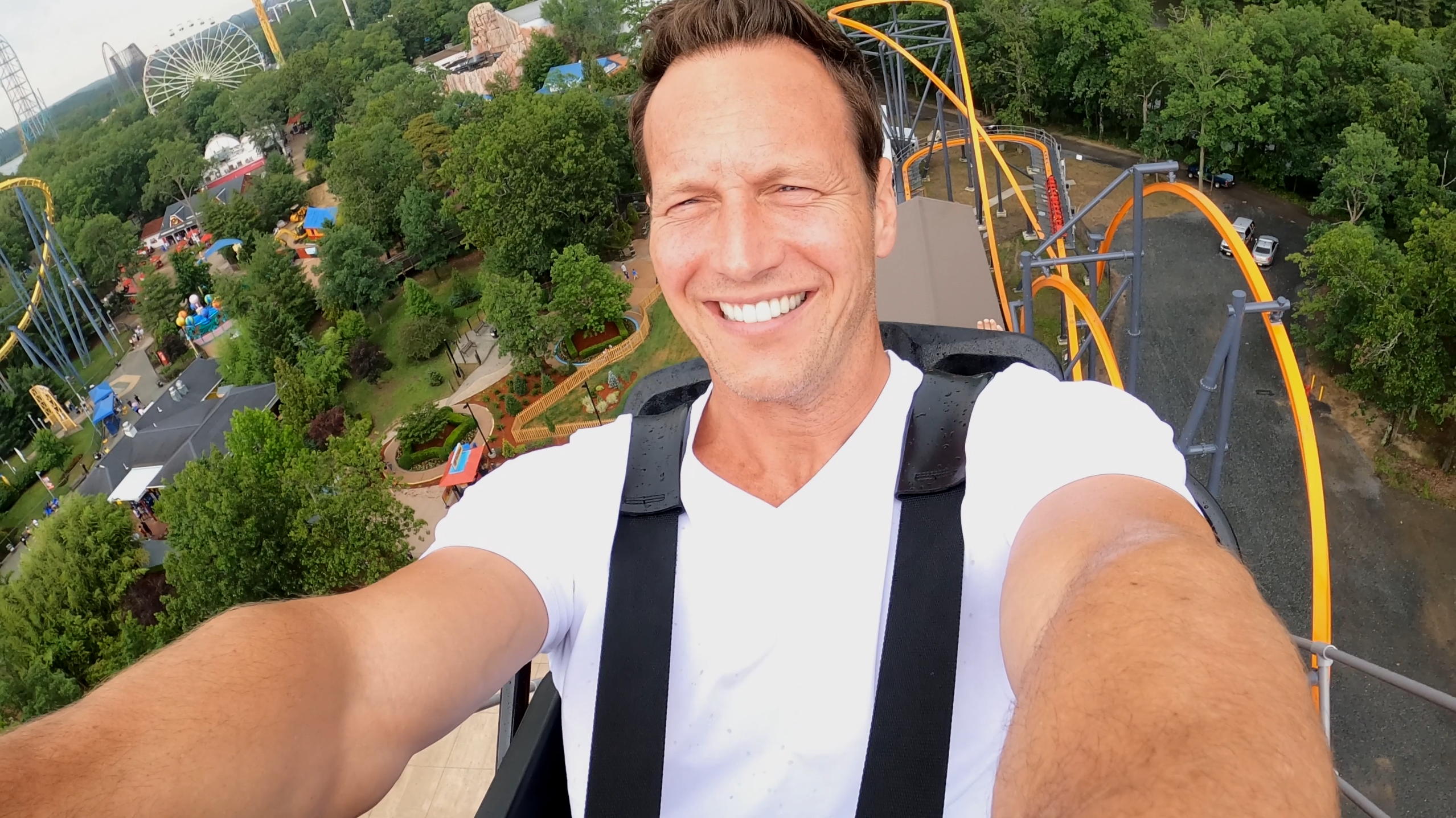 Conjuring Star Patrick Wilson Rides The Jersey Devil At Six Flags