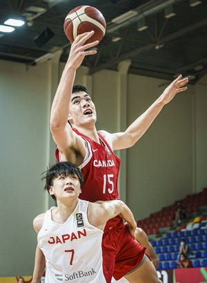 Purdue sophomore Zach Edey is playing for Team Canada at the FIBA U19 World Cup