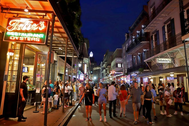 Bourbon Street in New Orleans on Friday, July 2, 2021.