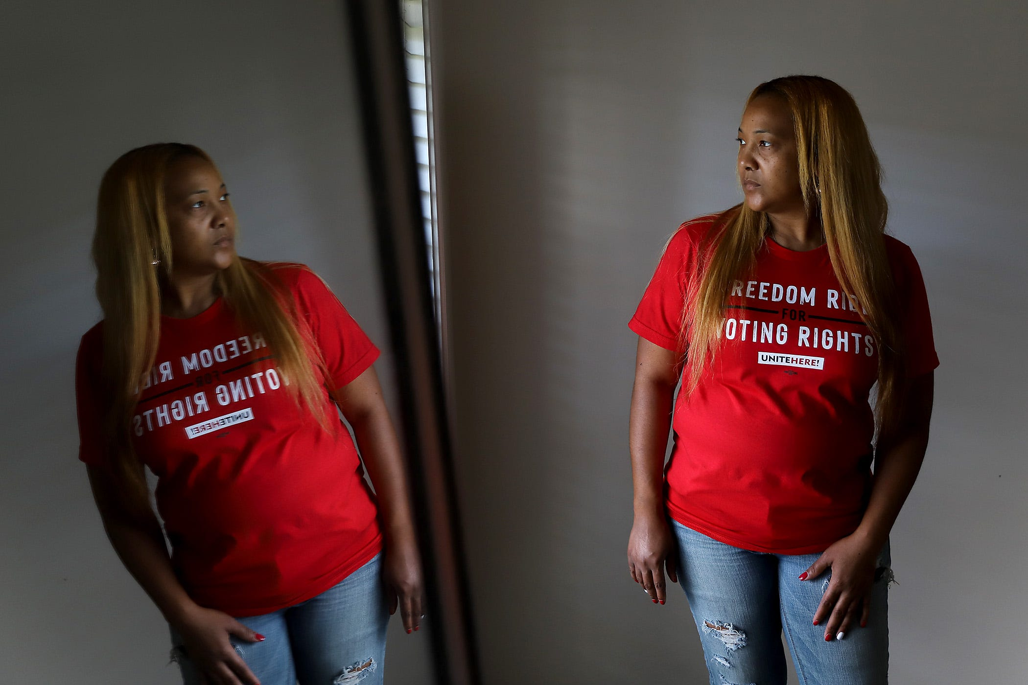 Trinice Dyer at her home in New Orleans East on Thursday, July 1, 2021.