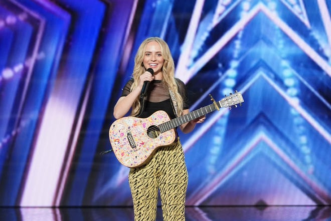 """Singer-songwriter Madilyn Bailey, a Wisconsin native living in Los Angeles, auditions on NBC's """"America's Got Talent"""" in the episode that airs July 6, 2021."""