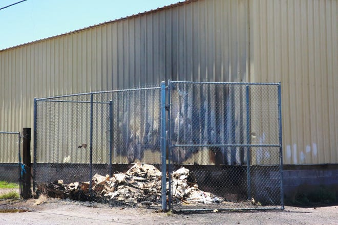 A warehouse on West Las Cruces Avenue caught fire on Monday, July 5, 2021. Firefighters said a good sprinkler system made a big difference in suppressing the fire.