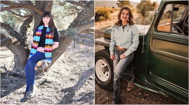 The Chapter AG, P.E.O. Foundation is awarding scholarships to Marcela Johnson, left, and Kurstyn Johnson, right