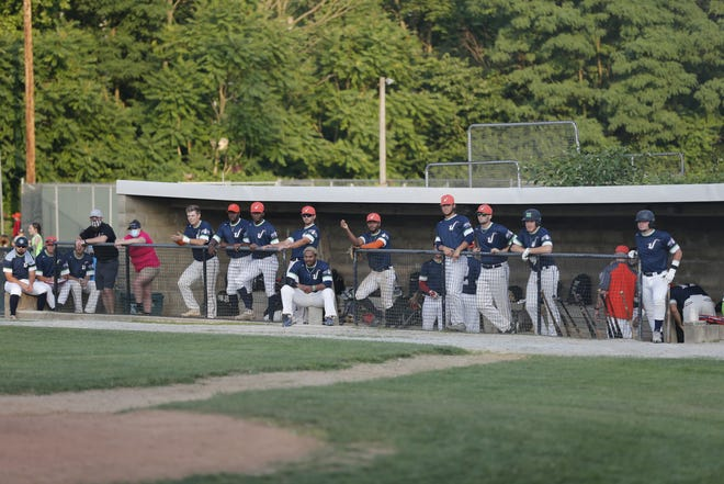 The Richmond Jazz dugout during the team's 7-3 home win over the Ohio Marlins on Friday, July 2, 2021.