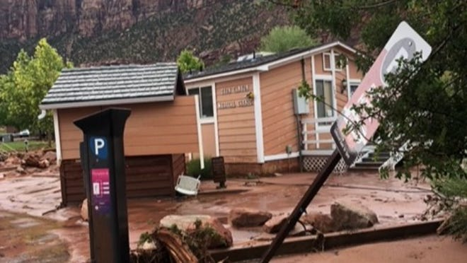 The Zion Canyon Medical Clinic was damaged during the June 29, 2021 flash floods.