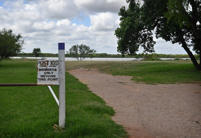 A section of waterfront property at Lake Wichita reaches back to Thomas Fowler American Legion Post 169. The area is part of the next stretch of the city's Circle Trail to be constructed.