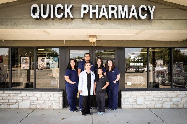 Quick Pharmacy in Round Rock has reopened after being closed for repairs following the severe winter storm in February.