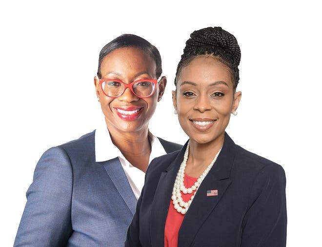 Nina Turner, left, and Shontel Brown.