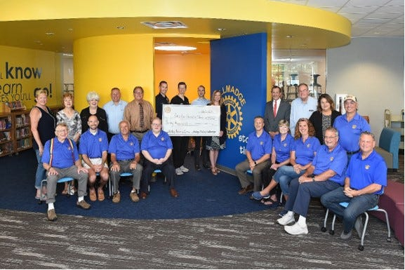 Tallmadge Rotary Club contributed $30,000 to the Tallmadge Elementary School's new Story Time area in the new library.