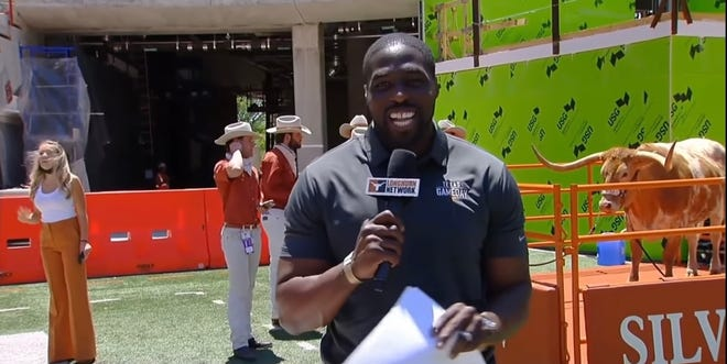 Texas ex Sam Acho, the 2010 Big 12 Male Sportsperson of the Year drafted by the Arizona Cardinals, has signed a multiyear deal to be a lead studio voice on college football Saturdays on ESPN2.
