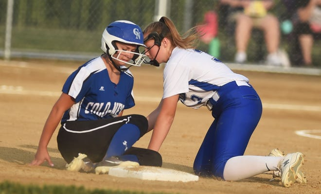 Colo-NESCO third baseman Izabell Voelker was named to the all-ISC South Division first team in softball for the 2021 season. The Royals had seven all-conference selections overall.