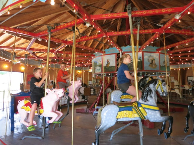 Scandinavian Day is being held along with National Carousel Day in Story City this year. The Antique Carousel sees as many as 16,000 visitors a year, like the Sickmann family of Minnesota who visited in 2017.