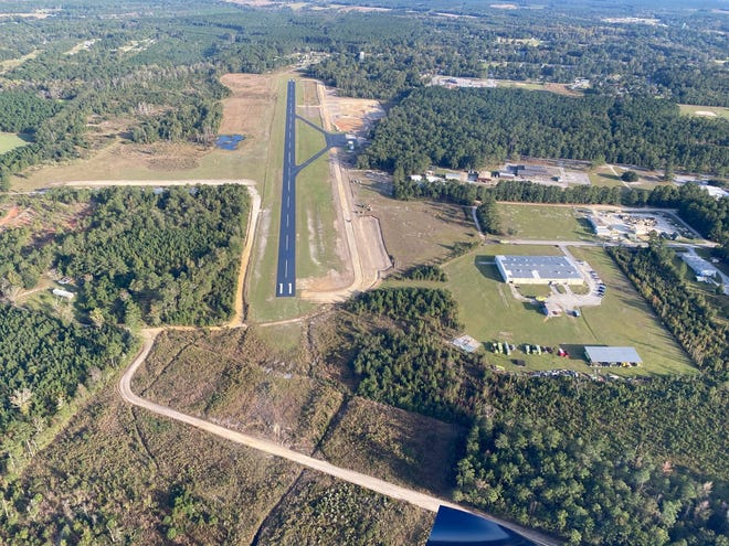 A breathtaking aerial view of the Hampton County Airport.