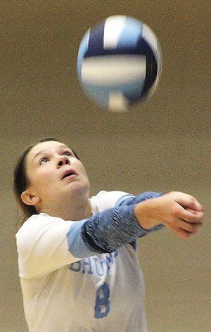 Sdyney Collins is on target to be a four-year starter for the Bartlesville High School varsity volleyball team.