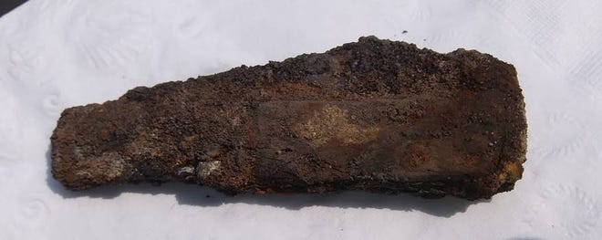 A pocketknife was recently unearthed during an archaeological dig at a house at Colonial Michilimackinac on July 4. It is unknown how old the knife is, or if it is French or British, as both nationalities occupied the site.