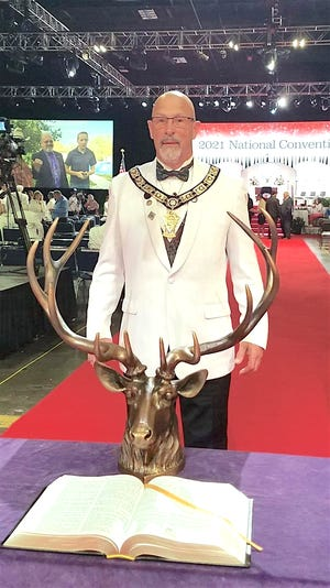 At their recent national convention in Tampa, Fla., Jaime L. Sisson, of Penn Yan, was installed as District Deputy for the BPO Elks for lodges in the Southern Tier District of the New York State Elks Association.