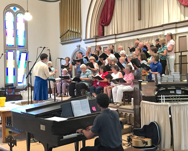 The Penn Yan Community Chorus, led by Jenn Kraemer and accompanied by Lucinda Loomis, will perform at the Yates Concert Series Wednesday night free concert at 6:30 p.m. July 21 on the Courthouse lawn at the intersection of Court and Main streets in Penn Yan.