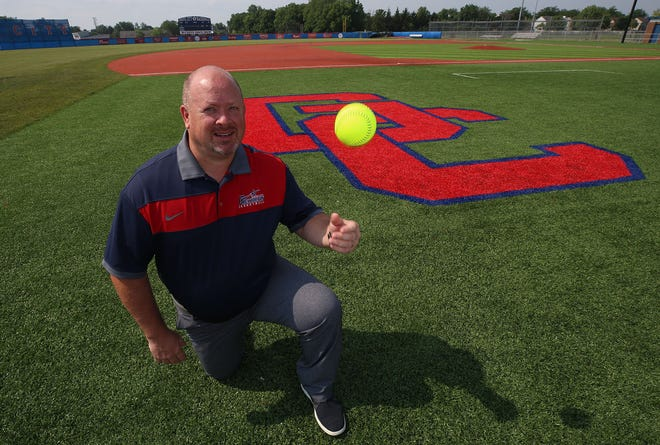 Eric Saxton is the Grove City Alumni Tournament director. Two years ago, the tournament added an extra fee, and the money went to help purchase the turf for the Grove City High School field.