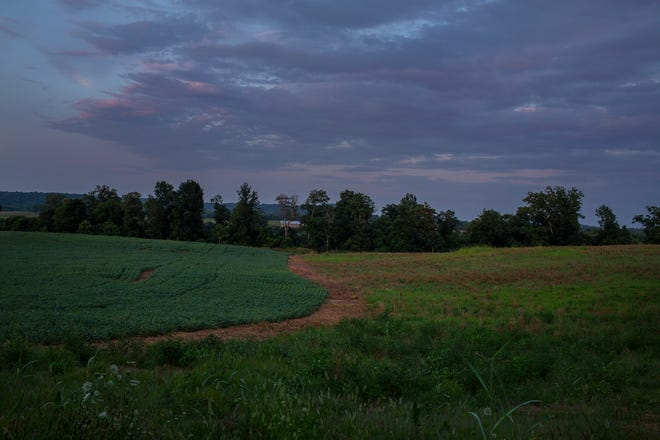 Farmland rests along the banks of the Duck River near Parsons Bend Road at Monsanto Road in Maury County, Tenn., on Tuesday, July 6, 2021. The site was recently rezoned by the Maury County Commission.