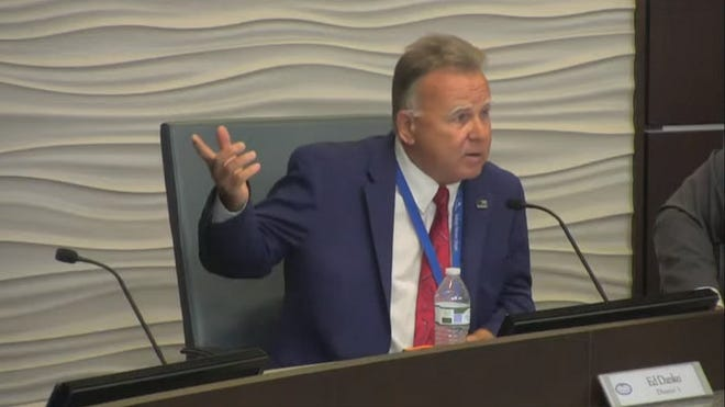 Palm Coast City Council member Ed Danko during Tuesday June 6 meeting.