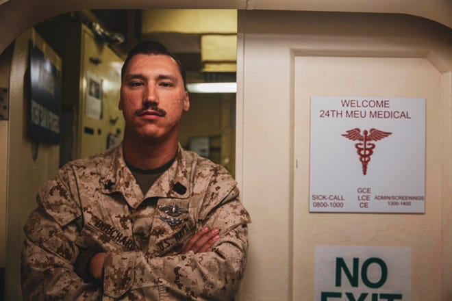 Petty Officer 2nd Class Louis Bouchard is a 2009 Western Wayne High School graduate. Today, Bouchard serves as a hospital corpsman.