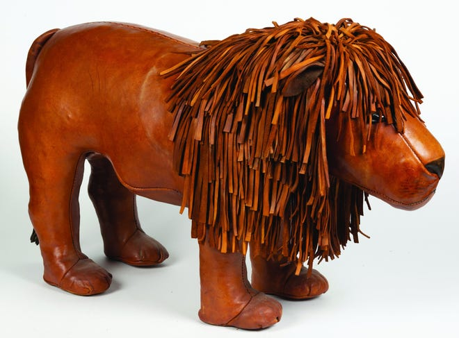 This Dimitri Omersa lion footstool auctioned at a Jeffrey Evans & Associates sale for $3,159. Other animals have sold at auction for $1,000 to $5,000.