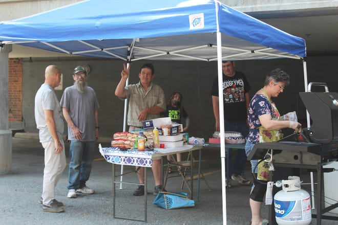 """The Montachusett Veterans Outreach Center """"4th on the 7th"""" barbecue was the organization's first gathering since before the COVID-19 pandemic."""