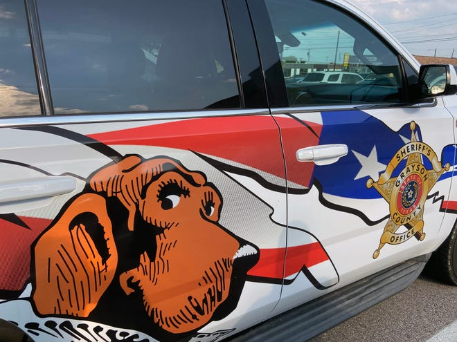 Grayson County Sheriff's Office's new crime prevention team truck is a colorful work of art.