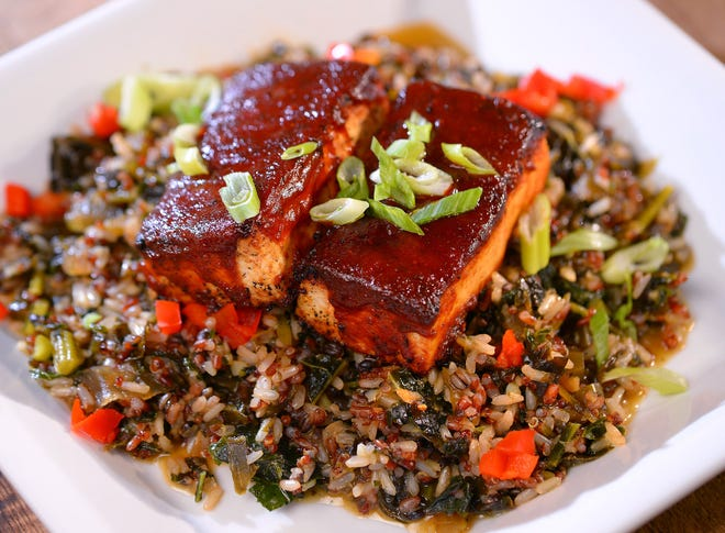 The Barbeque Glazed Tofu at Initial Q Smokehouse in downtown Spartanburg.